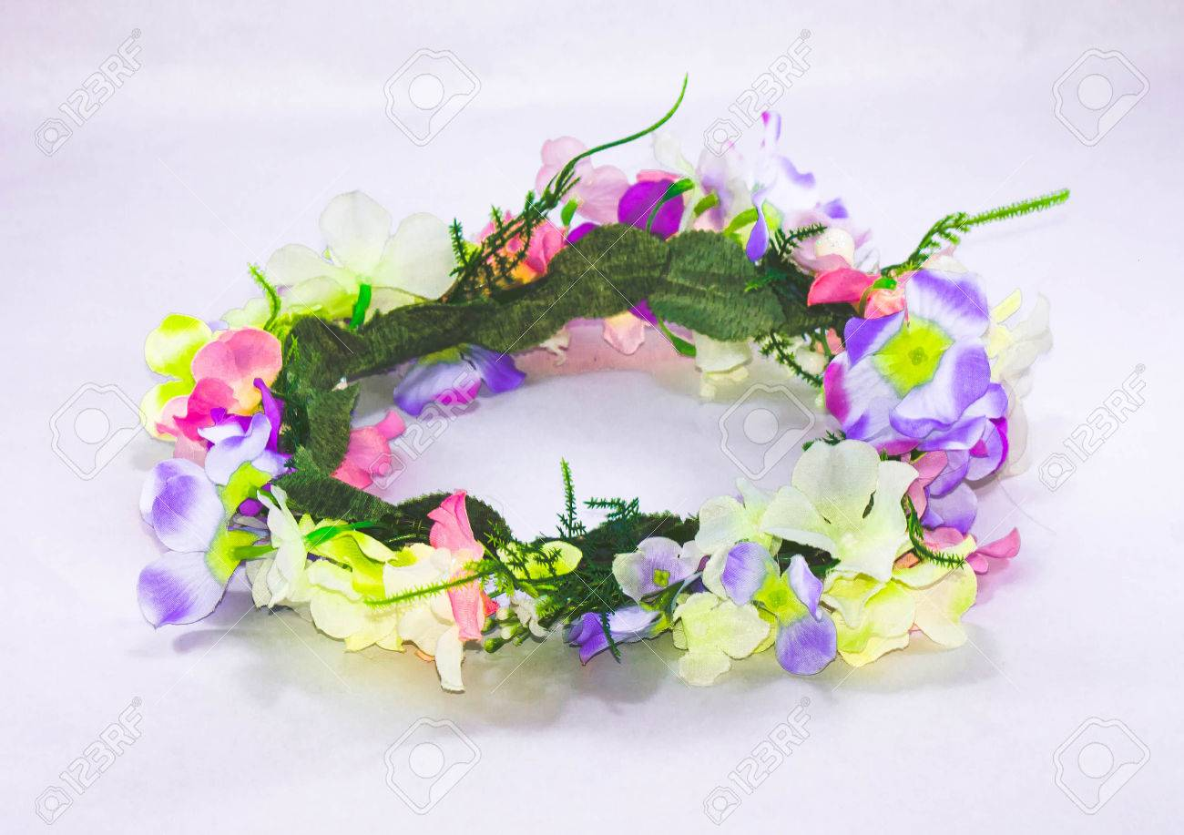 Forest coronal or colorful fake flower crown isolated on white forest coronal or colorful fake flower crown isolated on white background stock photo 27788495 izmirmasajfo