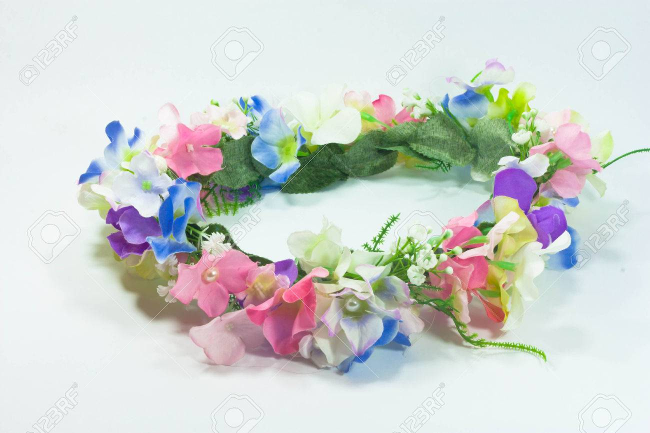 Fake flower crown isolate on the white background royalty free stok fake flower crown isolate on the white background stok fotoraf 28428609 izmirmasajfo