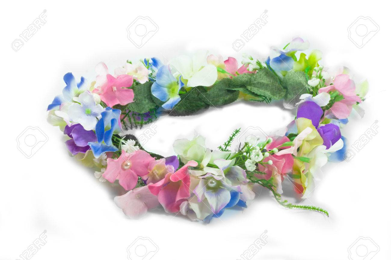Fake flower crown isolate on the white background stock photo fake flower crown isolate on the white background stock photo 43465433 izmirmasajfo