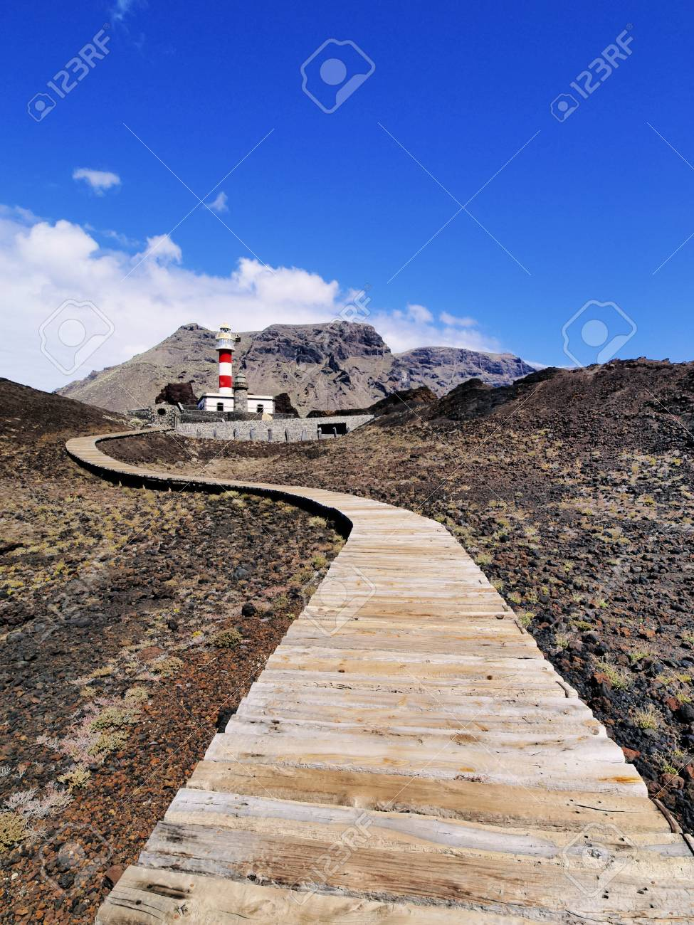 Lighthouse in Punta Teno, Tenerife, Canary Islands, Spain Stock Photo - 16582116