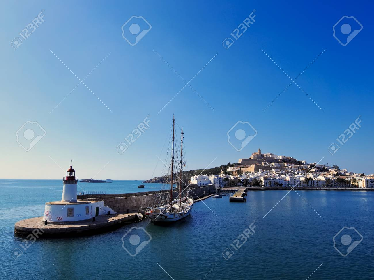 Harbor in Ibiza Town, Balearic Islands, Spain Stock Photo - 18273107