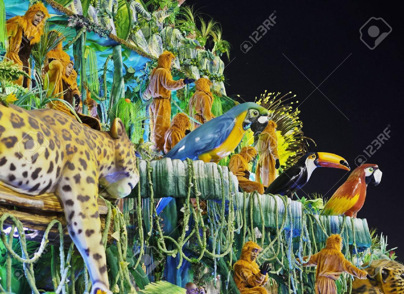 Brazil, State of Rio de Janeiro, City of Rio de Janeiro, Carnival Parade at The Sambadrome Marques de Sapucai. - 63615862