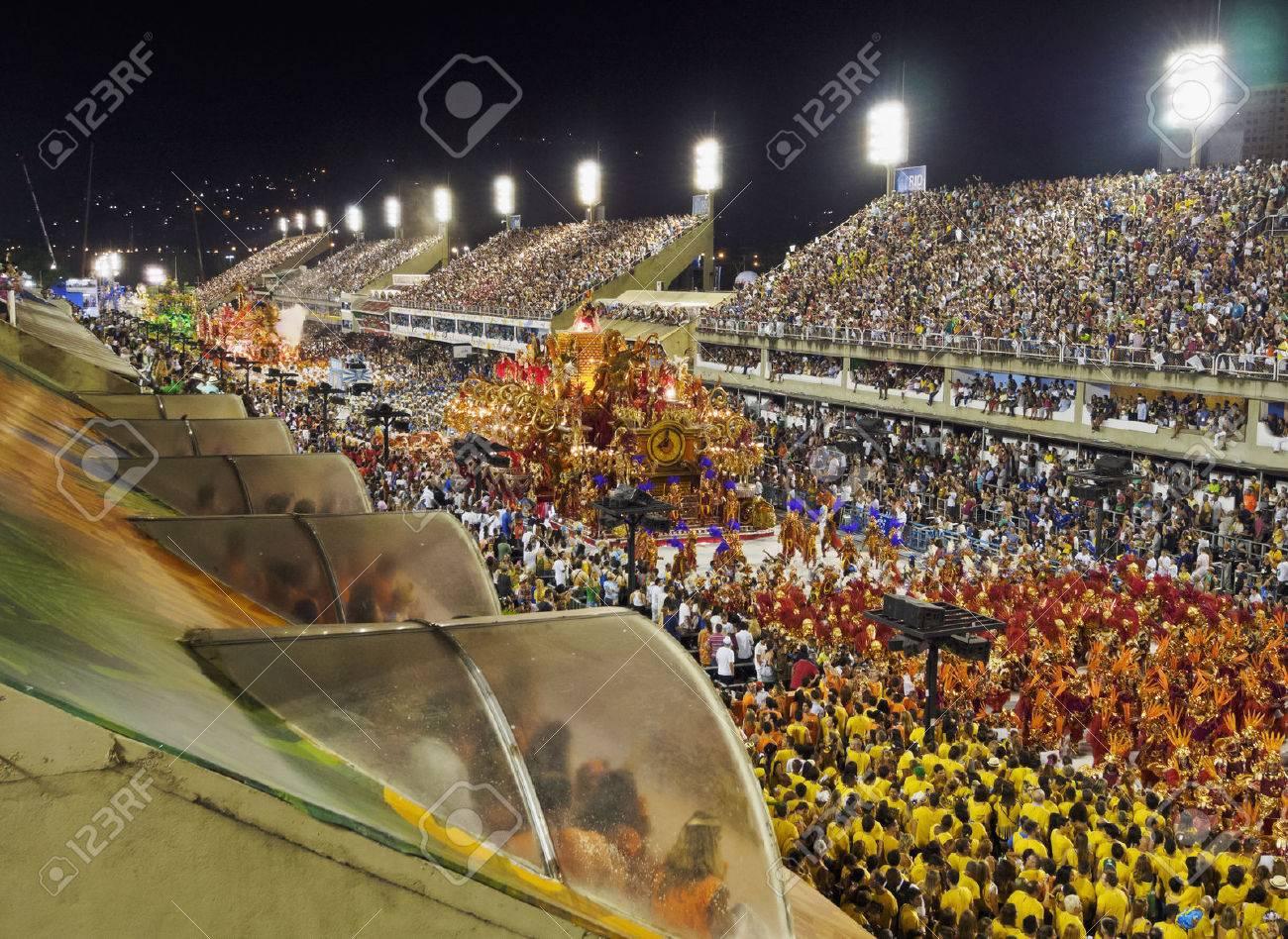 Brazil, State of Rio de Janeiro, City of Rio de Janeiro, Carnival Parade at The Sambadrome Marques de Sapucai. - 63615952