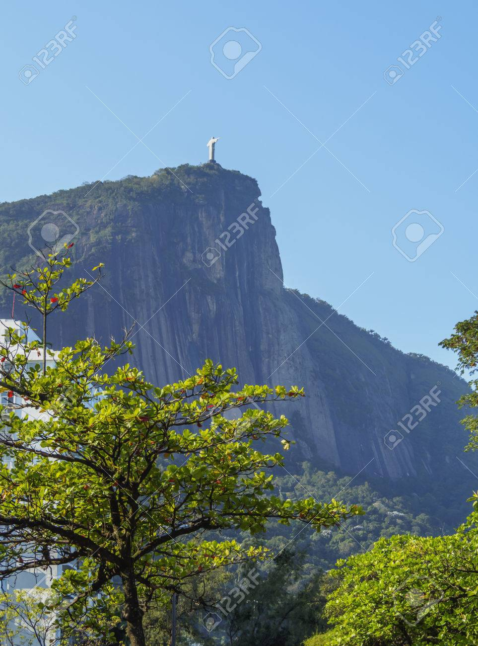 Brasilien Rio De Janeiro Zona Sul Corcovado Und Christus Statue