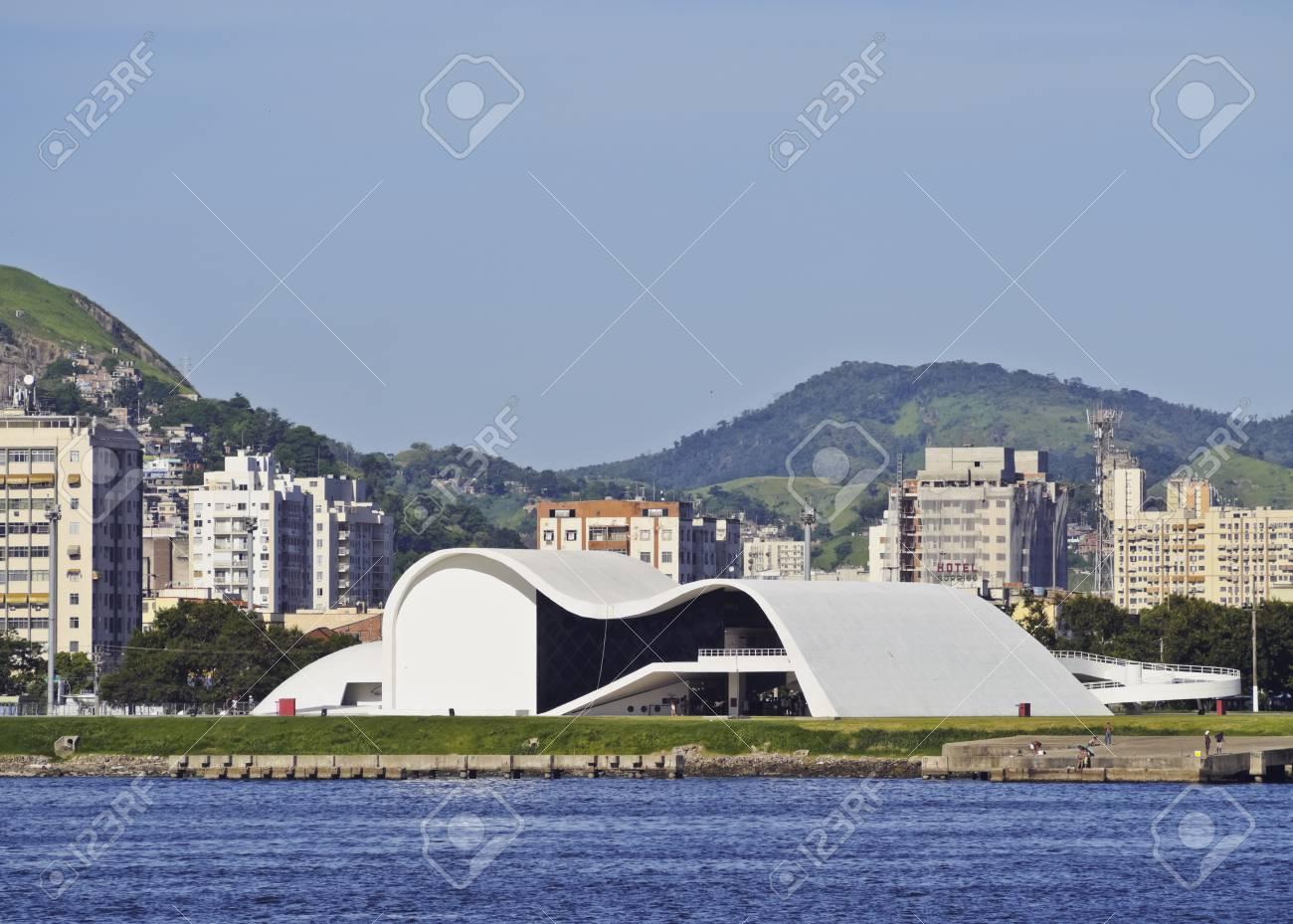 9f5ac2d6e Brazil, State of Rio de Janeiro, Niteroi, Caminho Niemeyer and Teatro  Popular Oscar