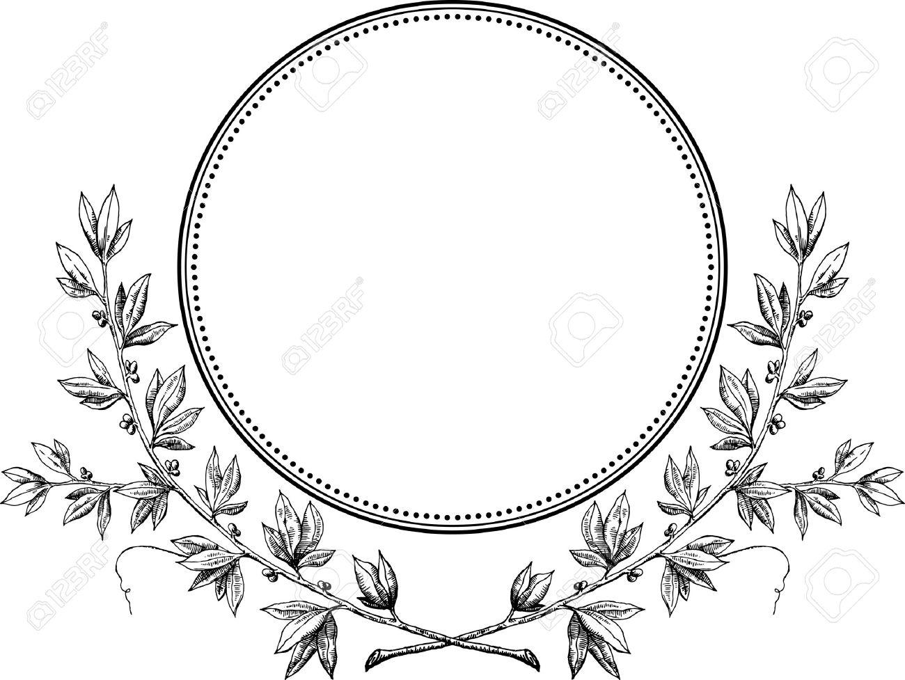 Royal laurel wreath vector Stock Vector - 17871254