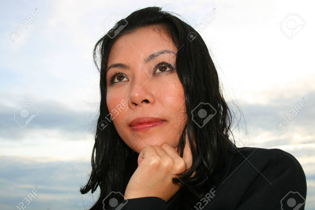 Asian business woman outdoors in Thailand. Stock Photo - 8026241