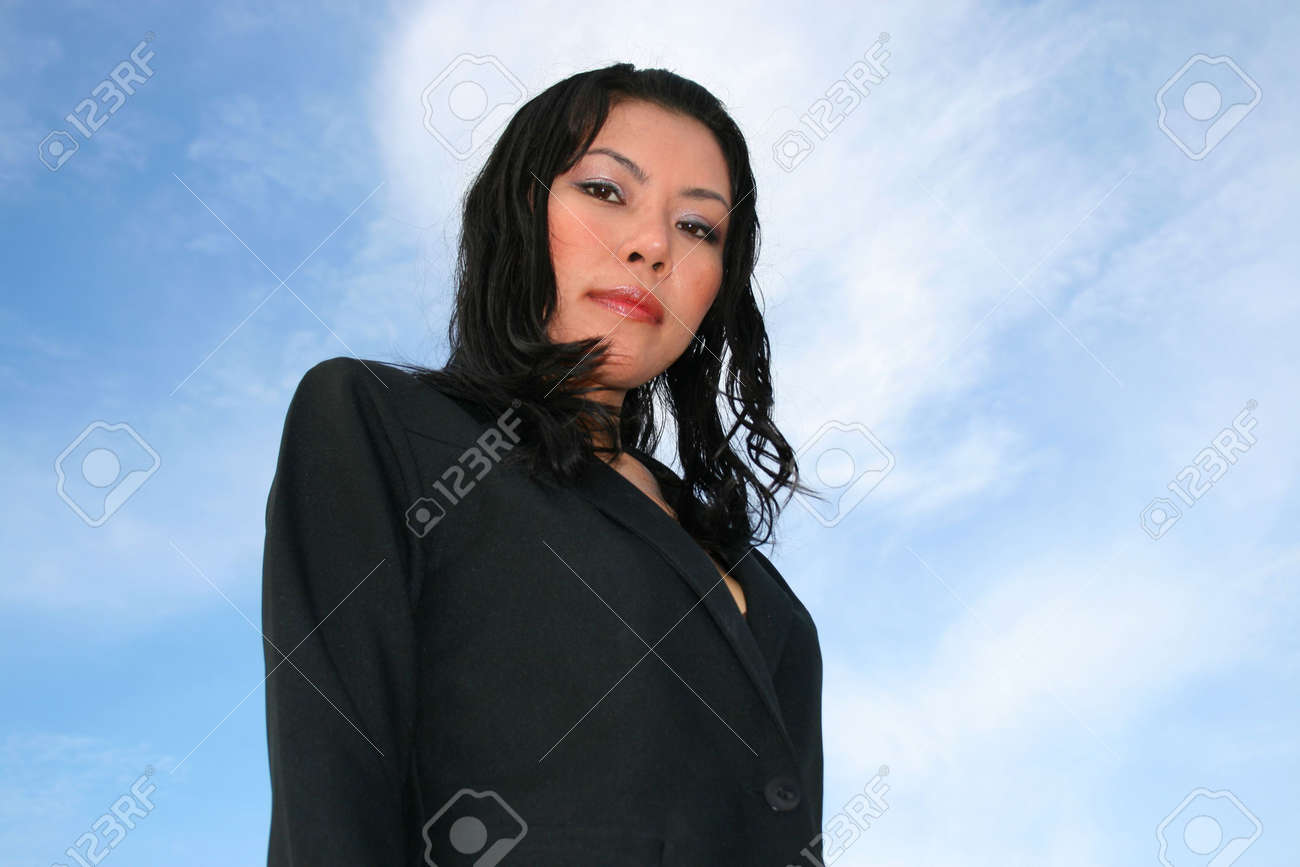 Asian business woman outdoors in Thailand. Stock Photo - 8026234