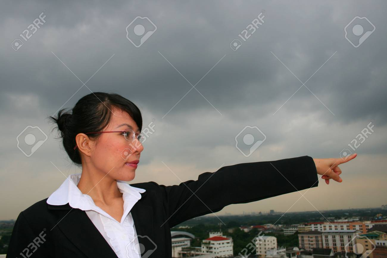 Asian business woman outdoors in Thailand. Stock Photo - 8165083