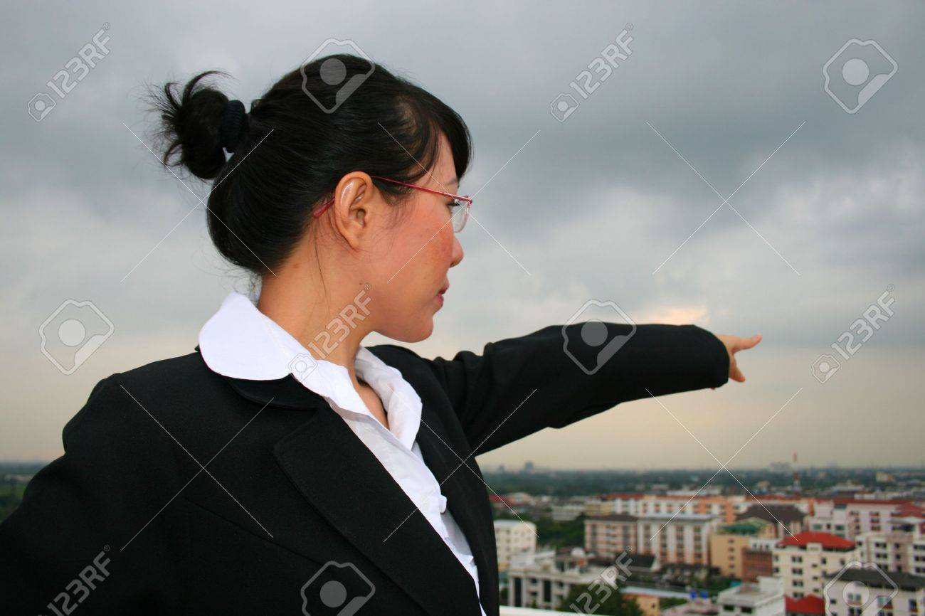 Asian business woman outdoors in Thailand. Stock Photo - 8226800