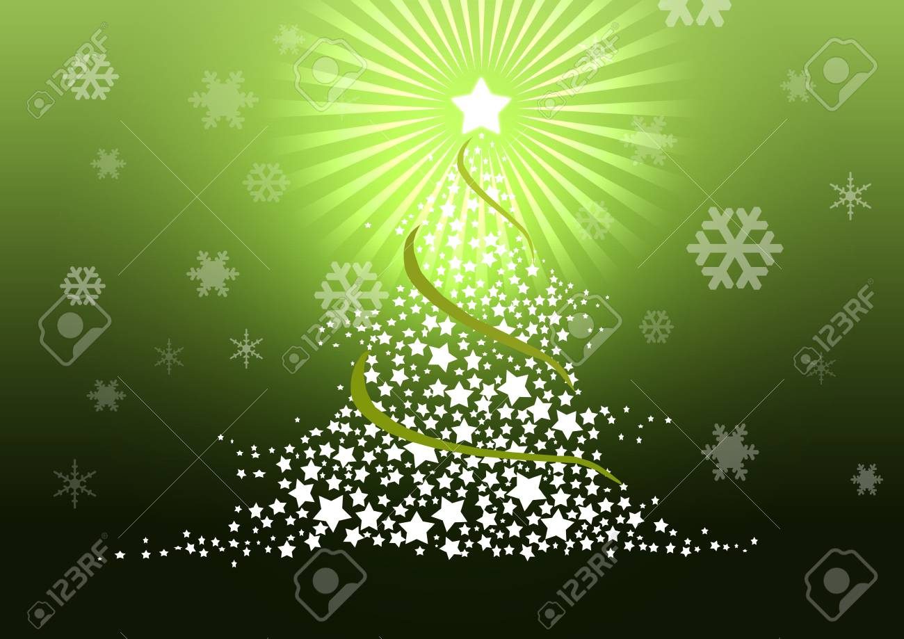 Christmas tree illustration. Stock Photo - 8329238