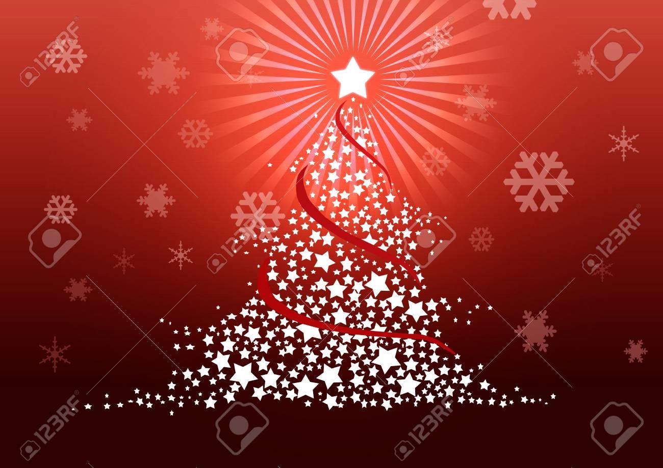 Christmas tree illustration. Stock Illustration - 8329249