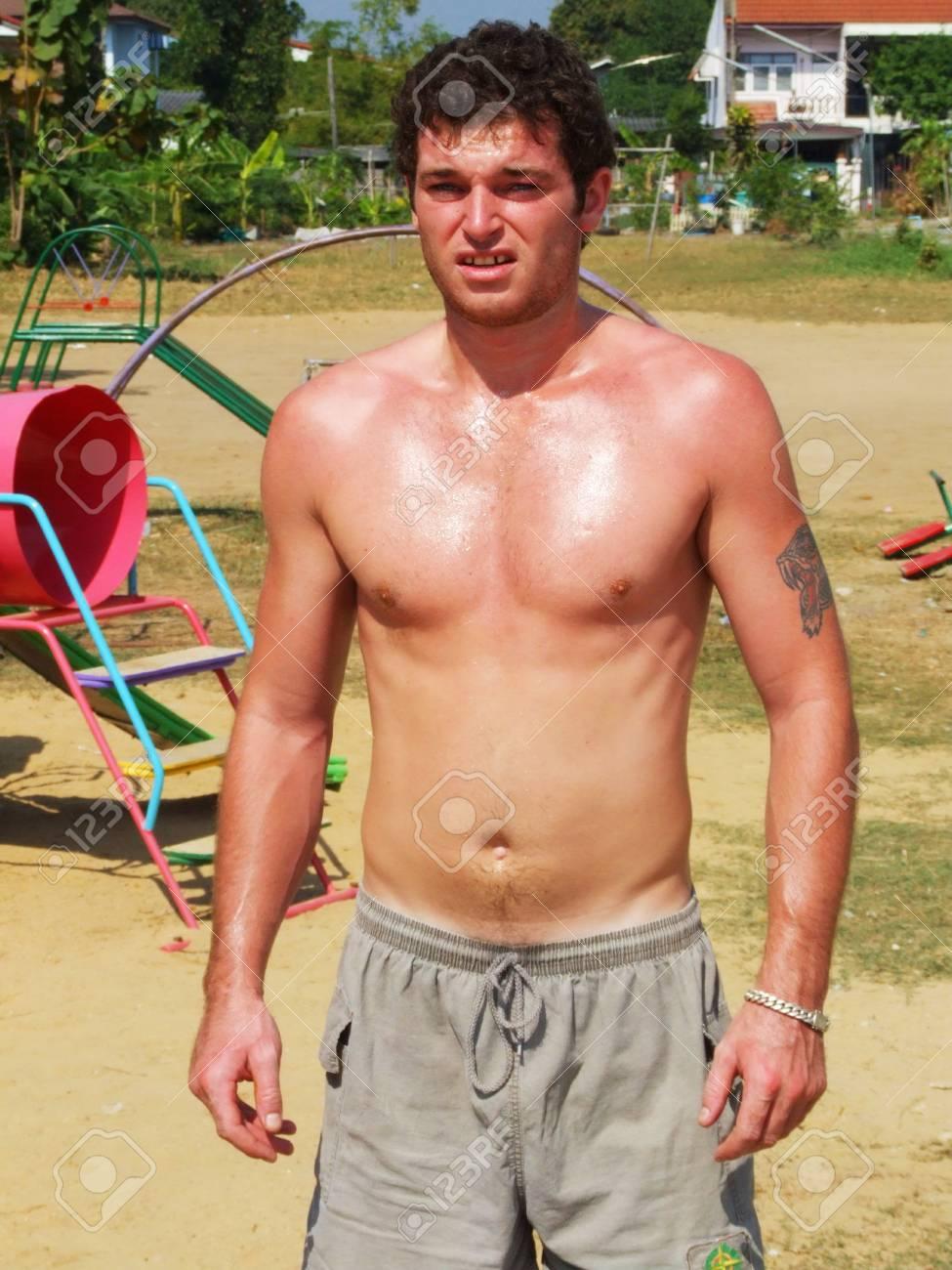 Man on a beach in Thailand Stock Photo - 13211883