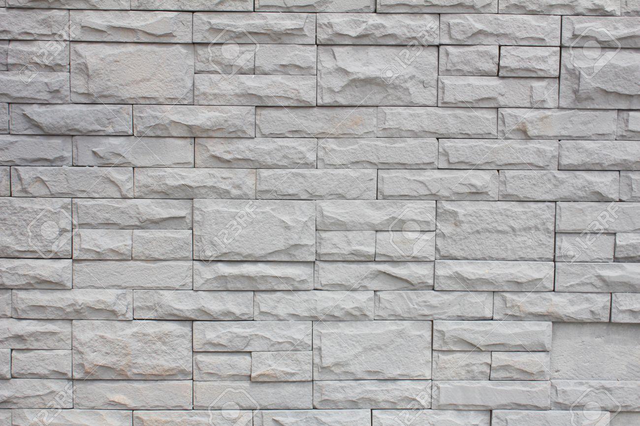 Grey Brick Stone Wall Stock Photo