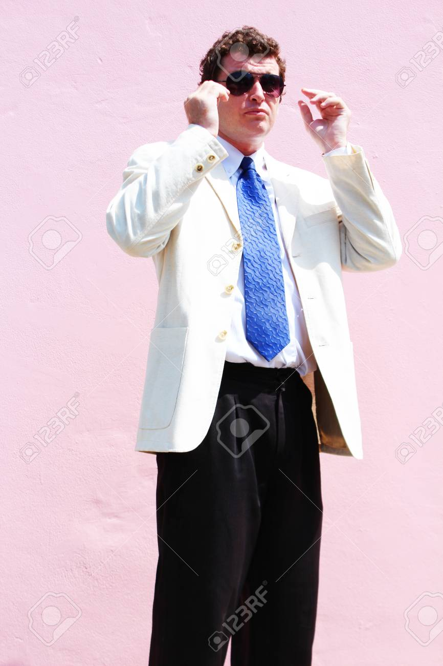Business man in a white suit in Thailand Stock Photo - 15451495