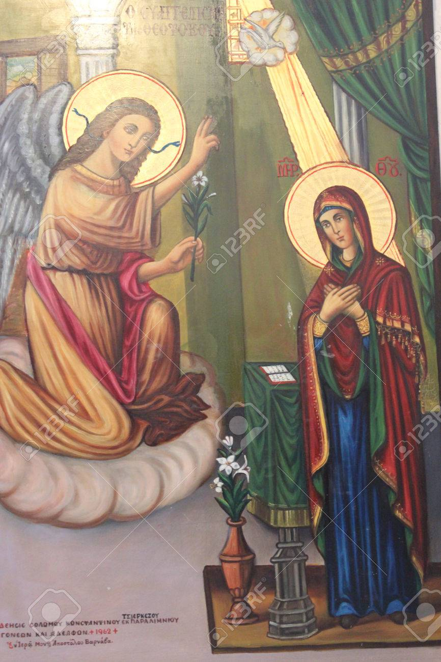 old religious paintings cyprus stock photo picture and royalty