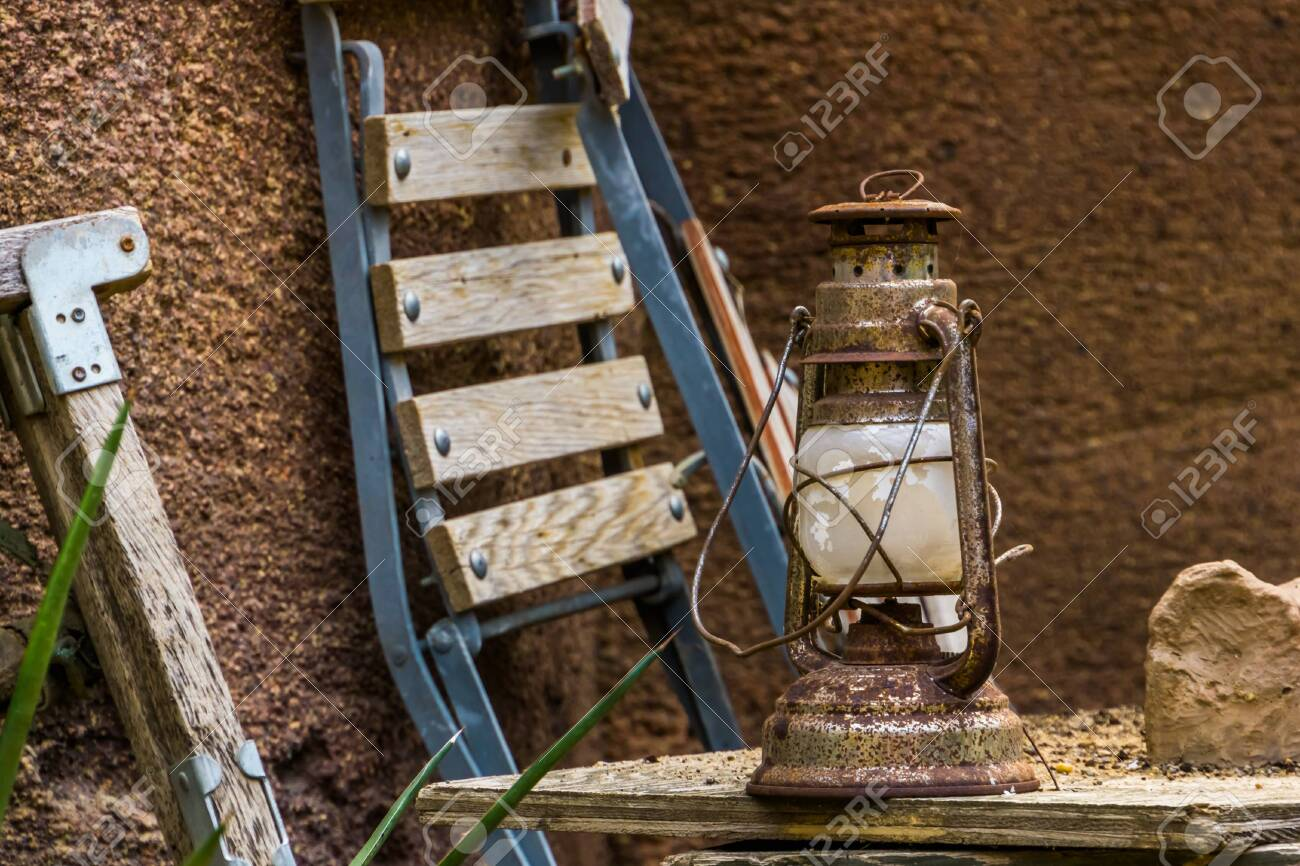 Old Rusty Vintage Lantern Basic Indoor And Outdoor Lighting Stock Photo Picture And Royalty Free Image Image 138836158