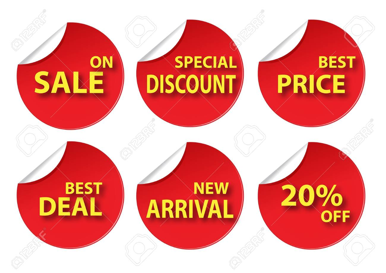red circle various sale tag Stock Vector - 12045001