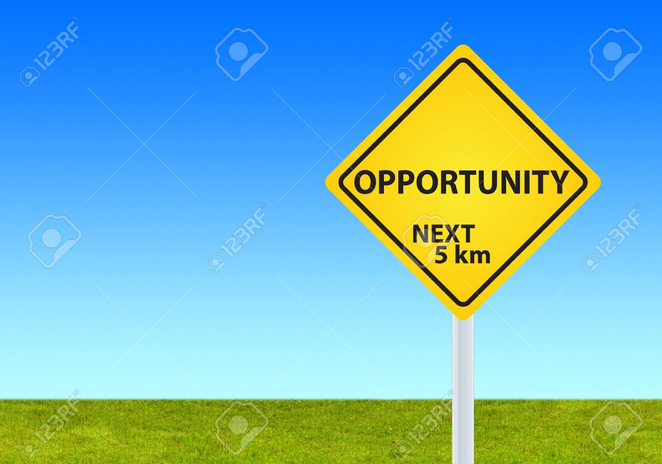 opportunity sign in a nature background Stock Vector - 12989880