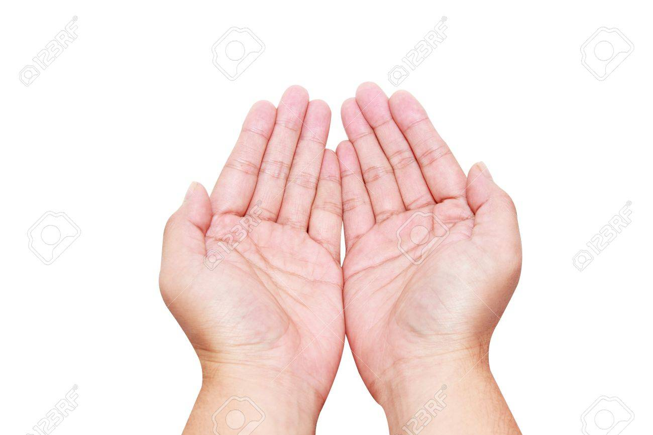 isolated hands in holding position Stock Photo - 14157906