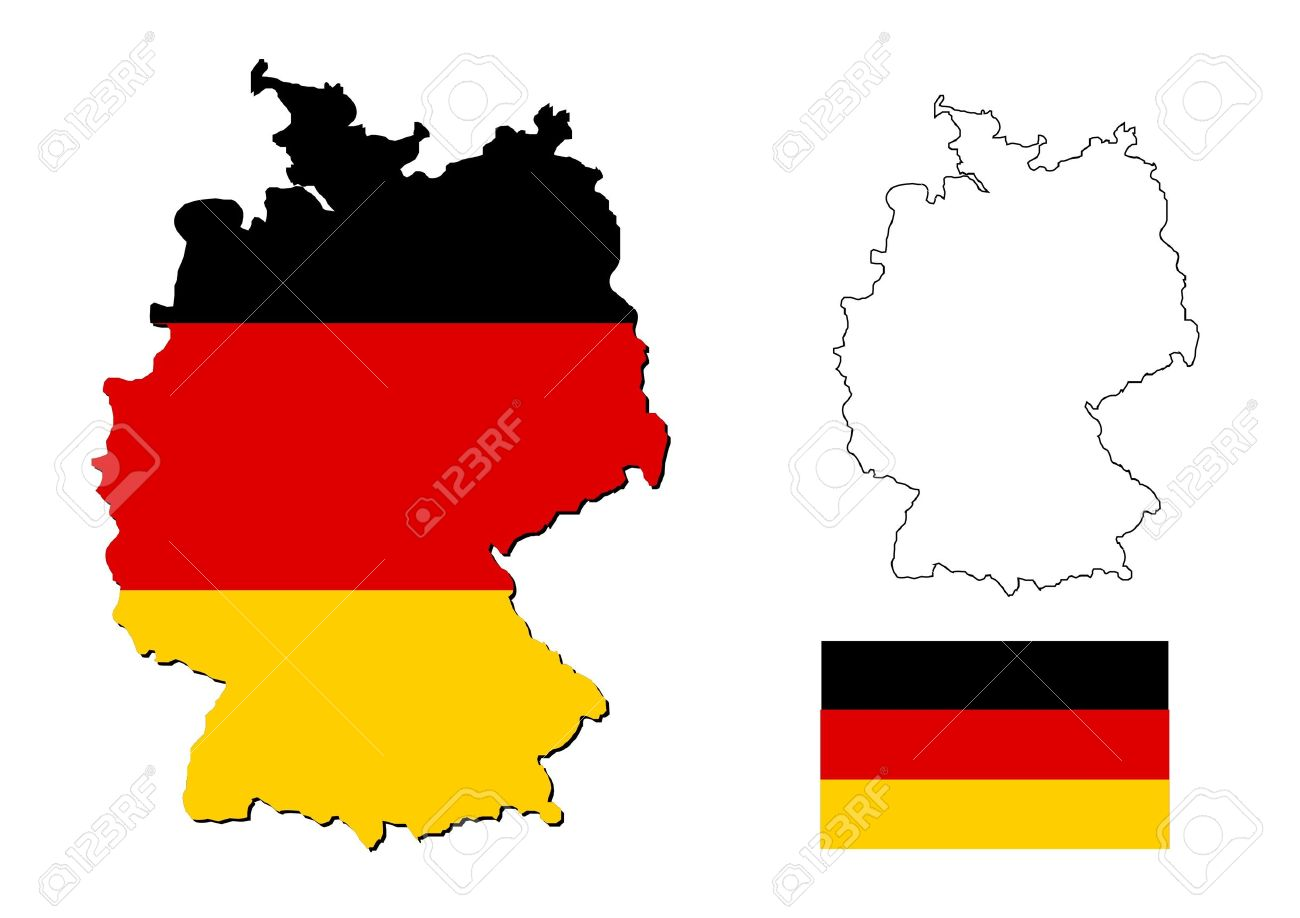 germany map with german flag Stock Photo - 14791534