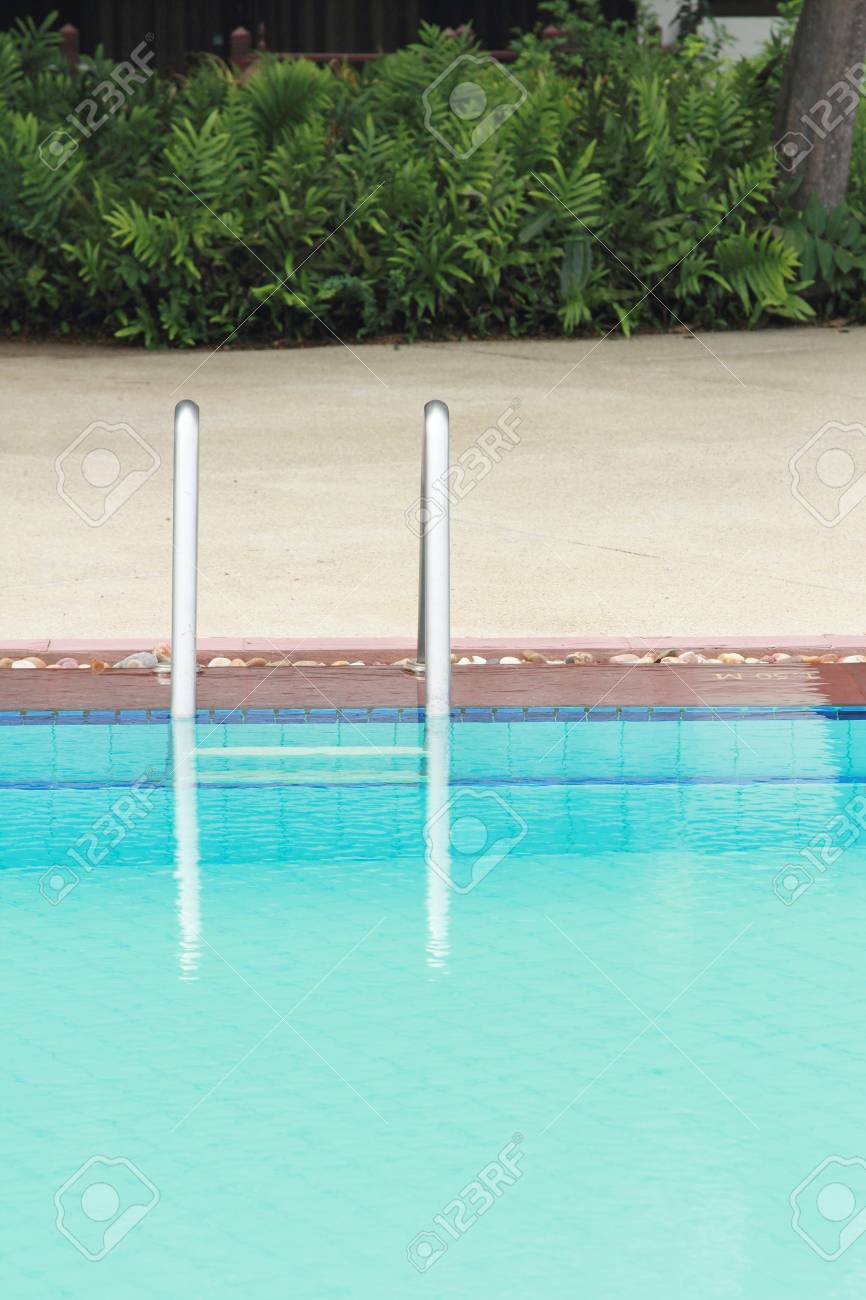 bars ladder in the swimming pool Stock Photo - 19094192