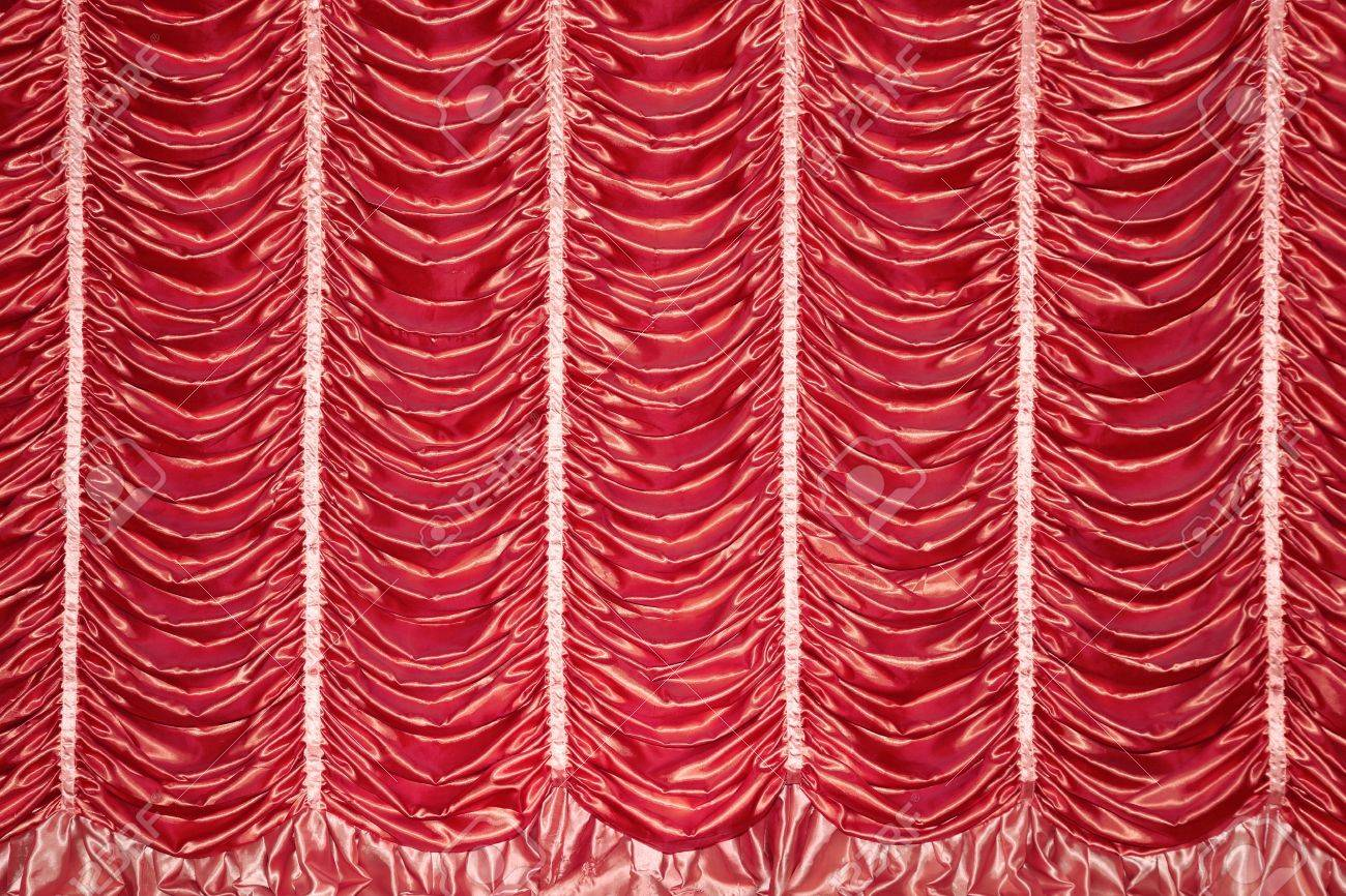 Stage Red Curtains For The Show Stock Photo, Picture And Royalty ...