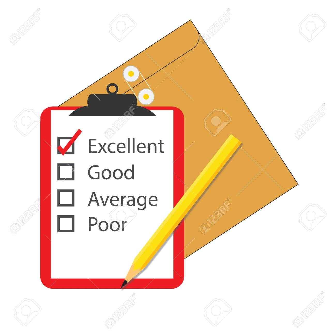 survey check box questionnaire on a notepad Stock Vector - 21777069