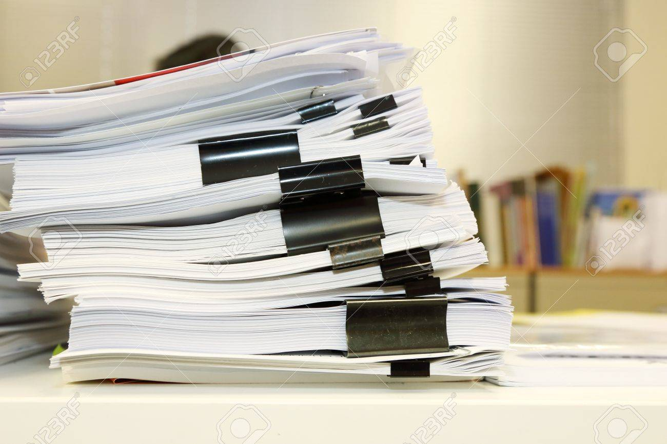 desk office file document paper. pile of documents on the office desk stock photo 27897532 file document paper
