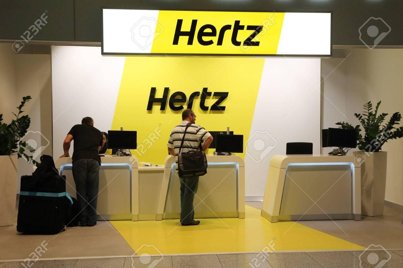 FRANKFURT, GERMANY - OCTOBER 18:, 2014: People Contact The Hertz ...