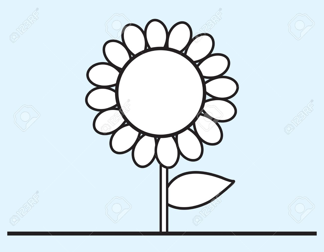 Flower Cartoon Drawing Stock Vector