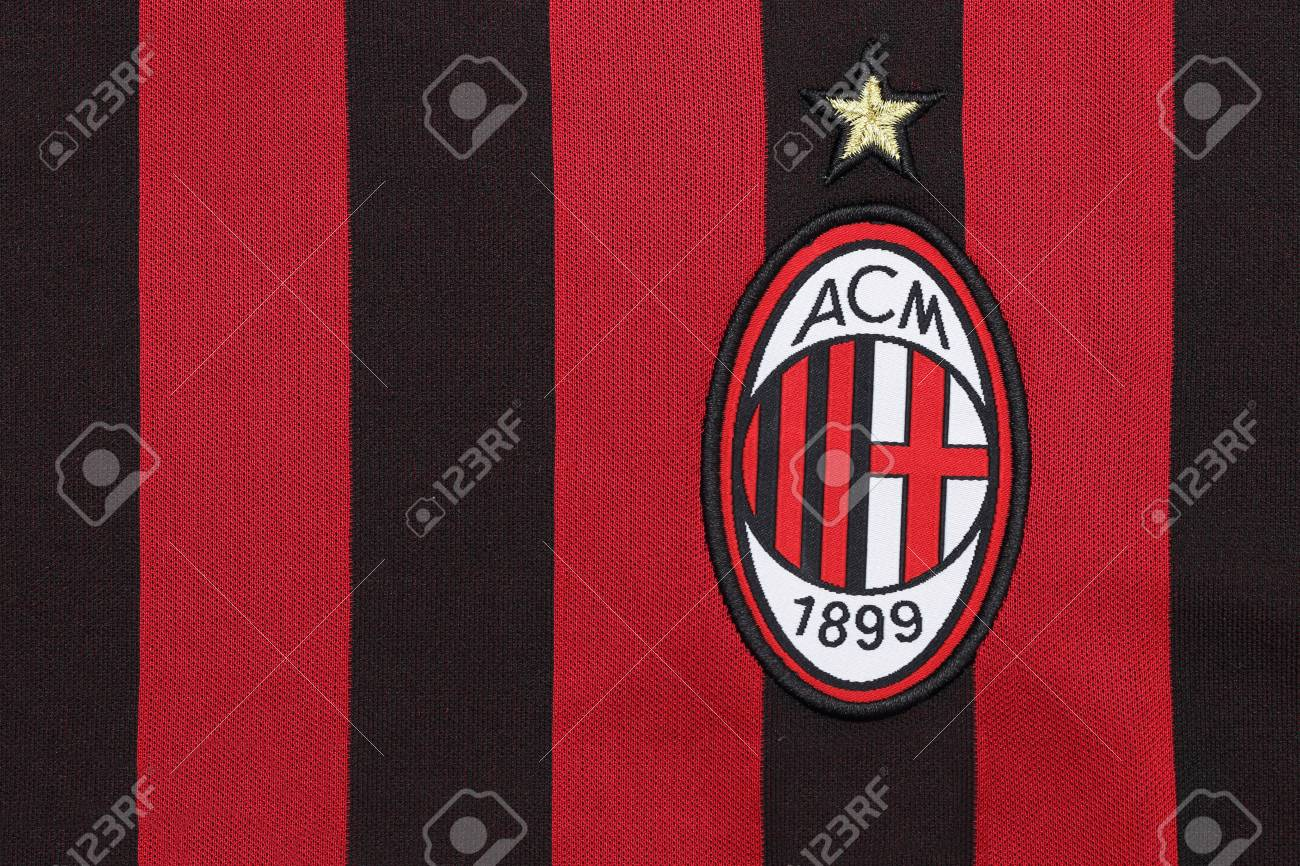Bangkok Thailand July 24 2016 The Logo Of Ac Milan Football Stock Photo Picture And Royalty Free Image Image 60278368