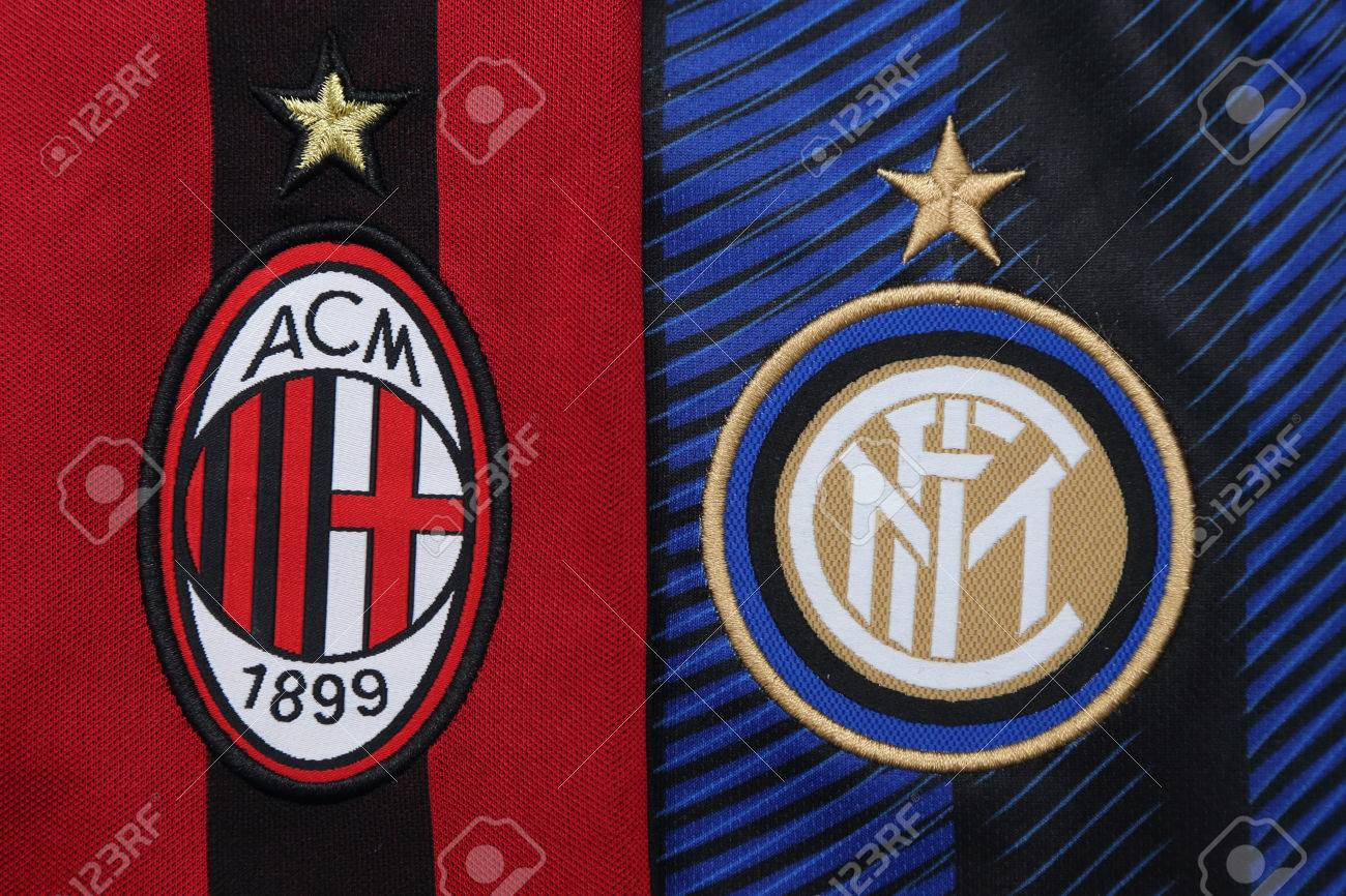 Bangkok Thailand July 24 2016 The Logo Of Ac Milan And Inter Stock Photo Picture And Royalty Free Image Image 60044562