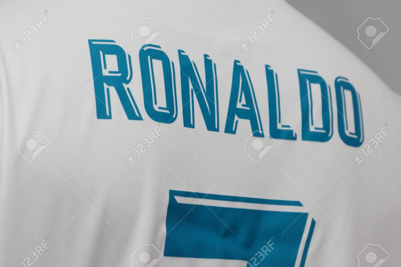 hot sale online 63726 ade36 BANGKOK, THAILAND - JULY 12: The Name of Cristiano Ronaldo on..