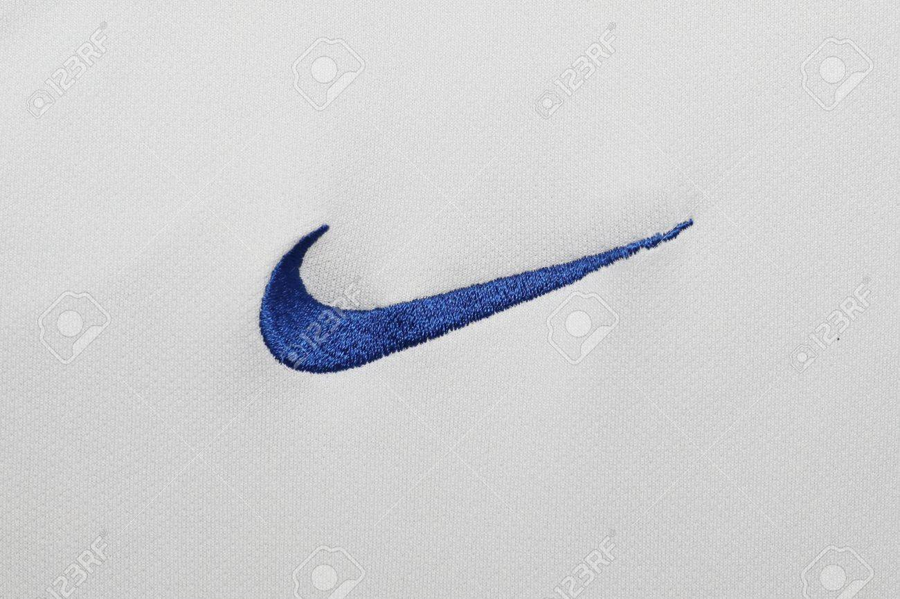Bangkok thailand july 15 the logo of nike on football jersey bangkok thailand july 15 the logo of nike on football jersey on july buycottarizona Choice Image