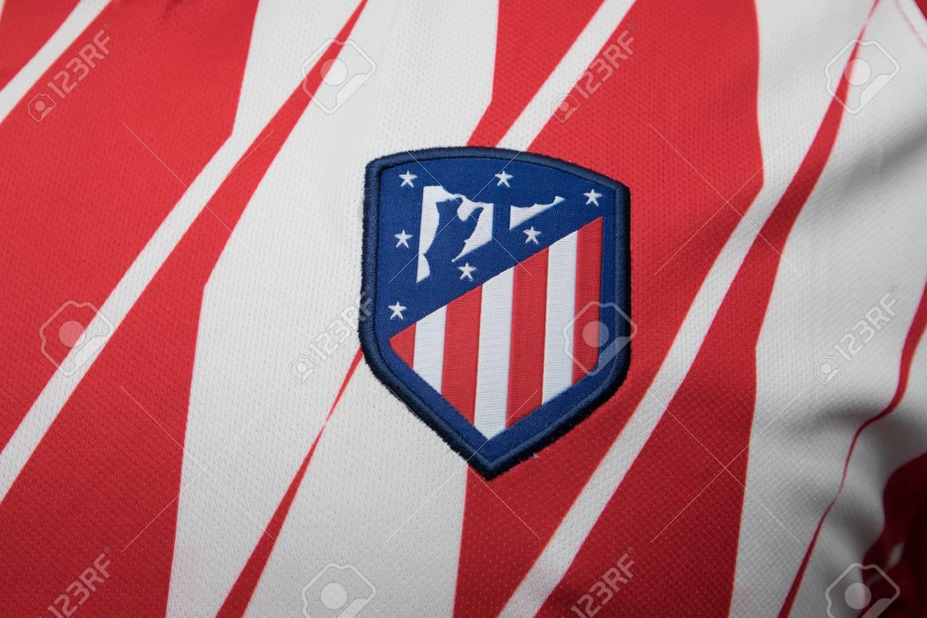 Bangkok Thailand 23 August Das Logo Des Neuen Atletico Madrid