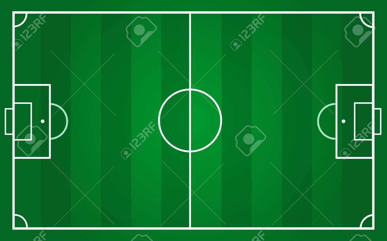Vector Of Football Pitch Template Royalty Free Cliparts Vectors