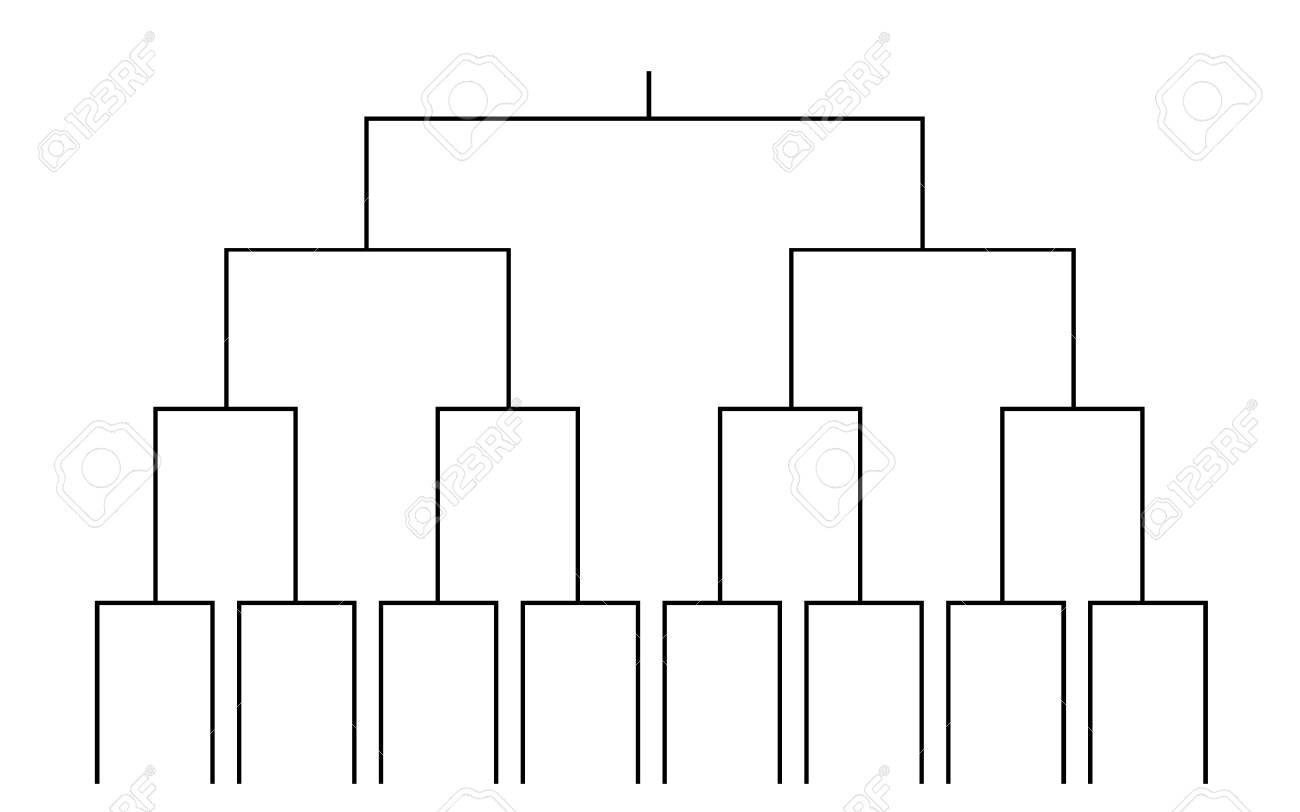 vector of 16 teams tournament bracket templates - 102687261