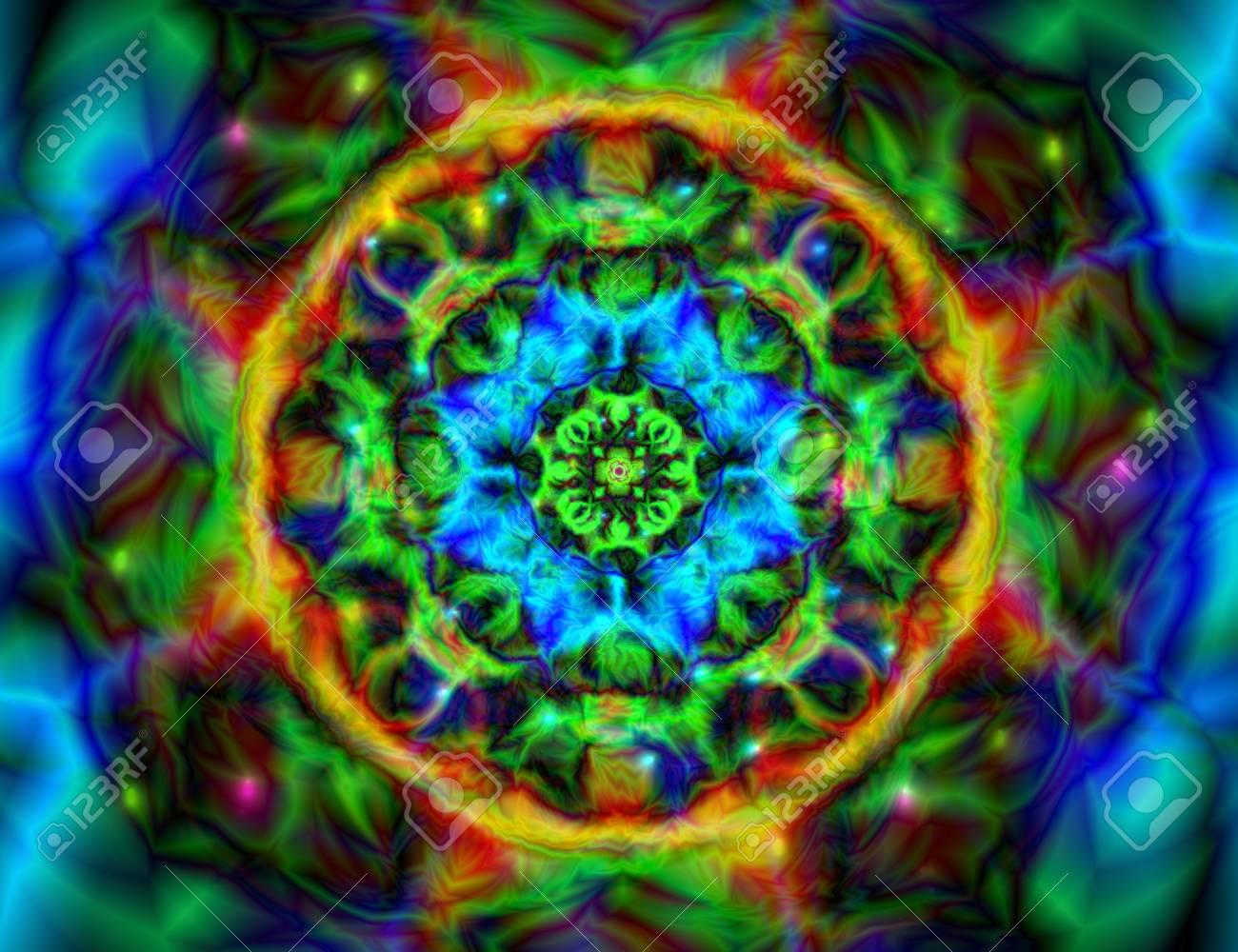 Caleidoscopio Colorido Abstracto Ornamento Del Mandala Del Círculo