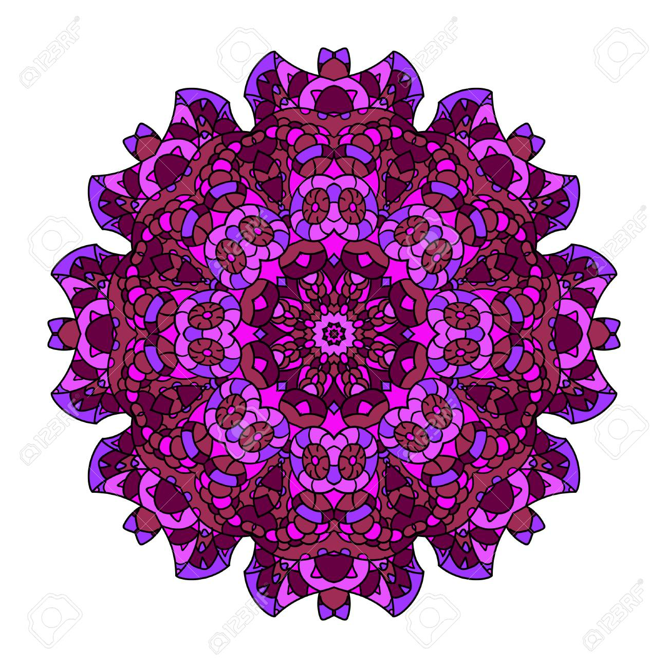 Adorno De Flores Mandala Floral Para Imprimir Carteles Pancartas Folletos Tarjetas De Invitación