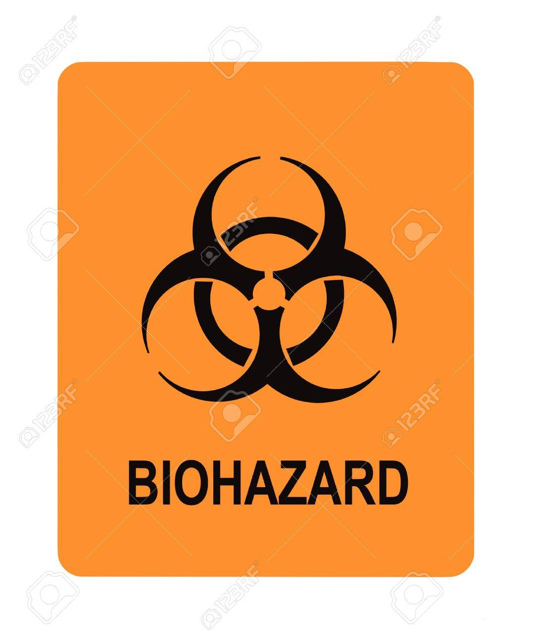 United States Department of Transportation biohazard warning label isolated on white Stock Photo - 4620707