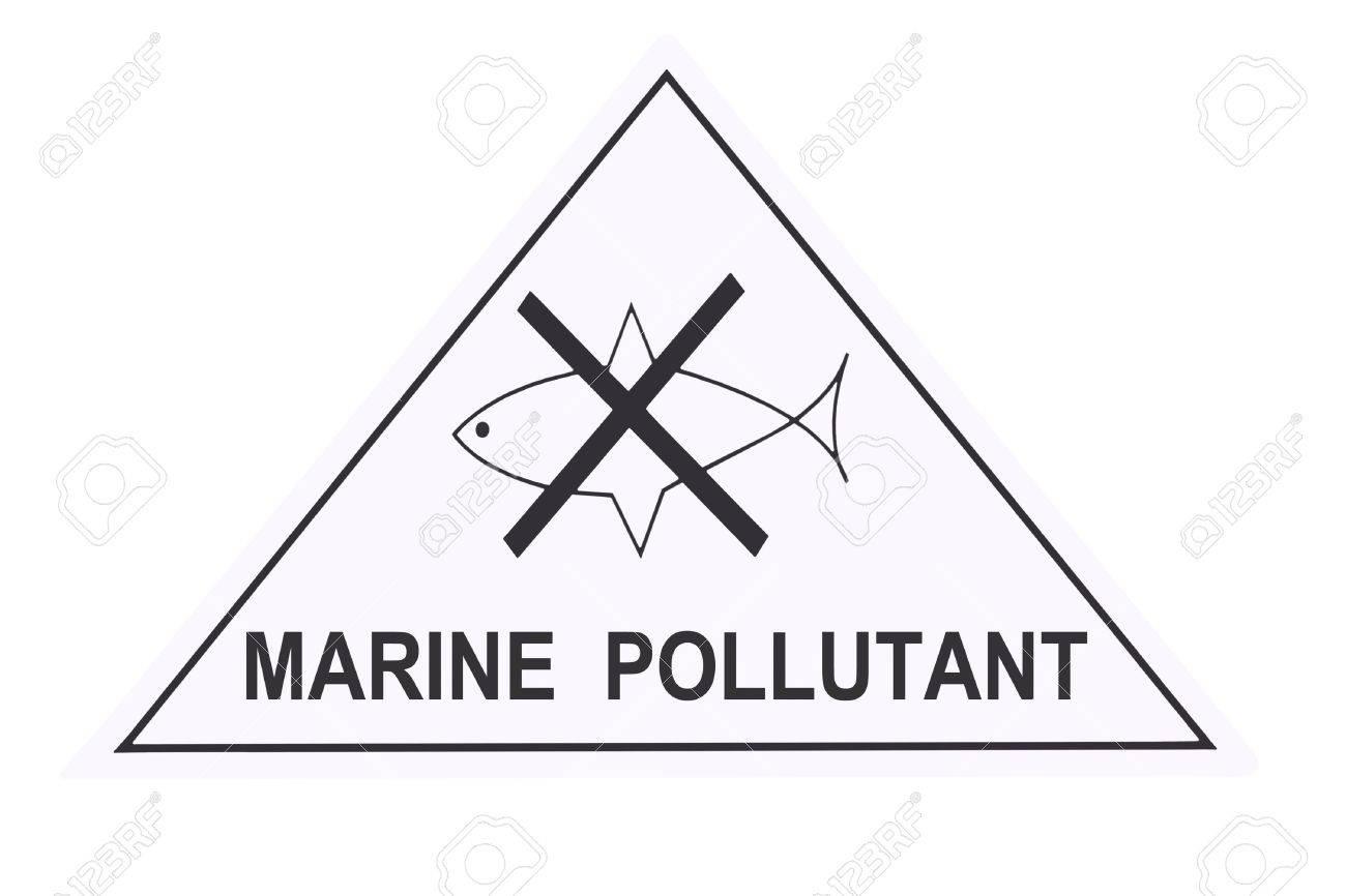 United States Department of Transportation marine pollutant warning label isolated on white Stock Photo - 4620701