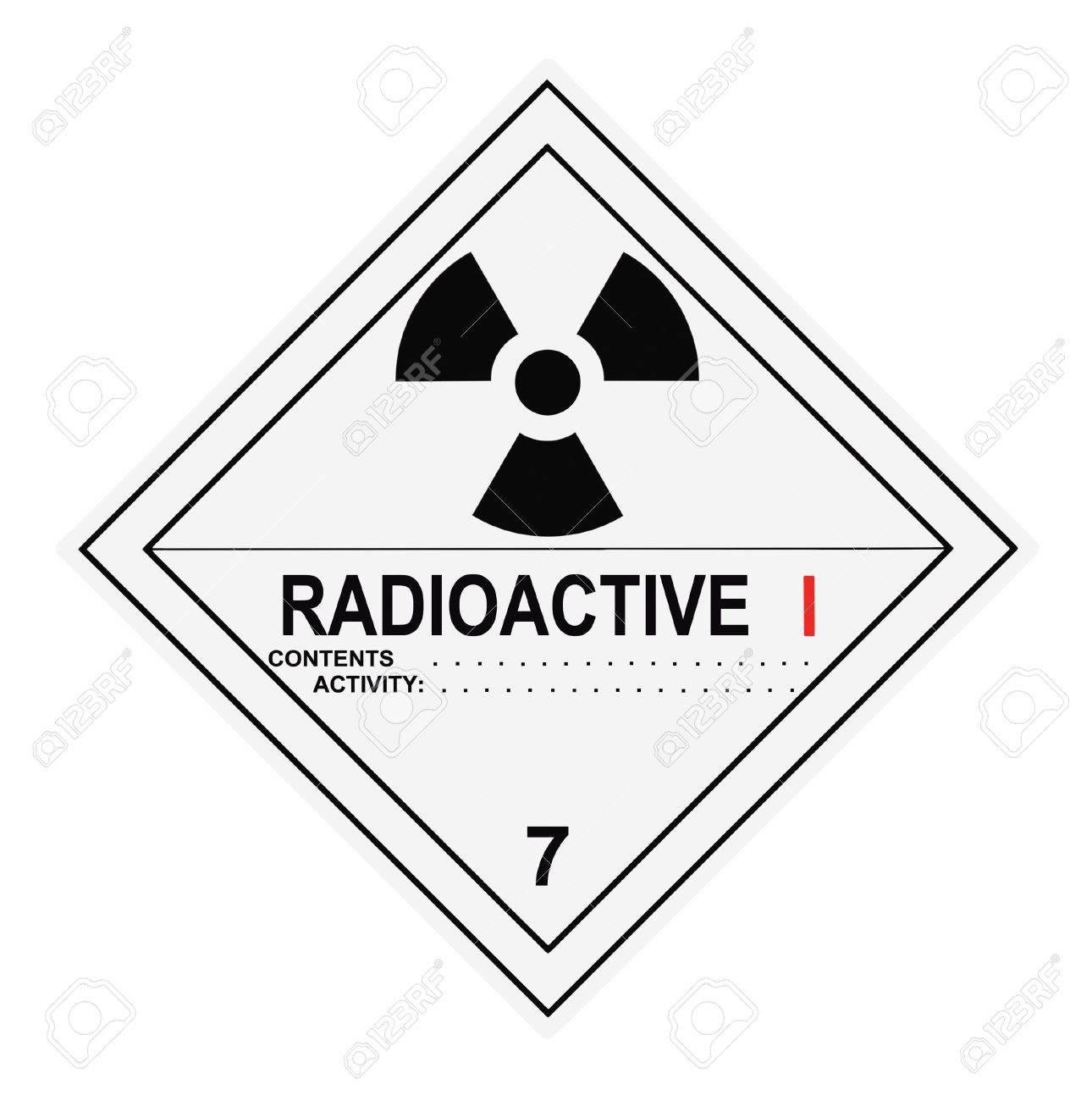 United States Department of Transportation radioactive warning label islolated on white Stock Photo - 4656671