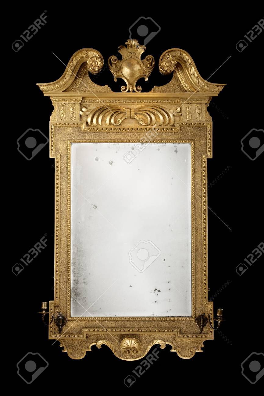 Mirror Wall Hanging Formal Vintage Antique With Original Glass Stock Photo Picture And Royalty Free Image Image 45553883