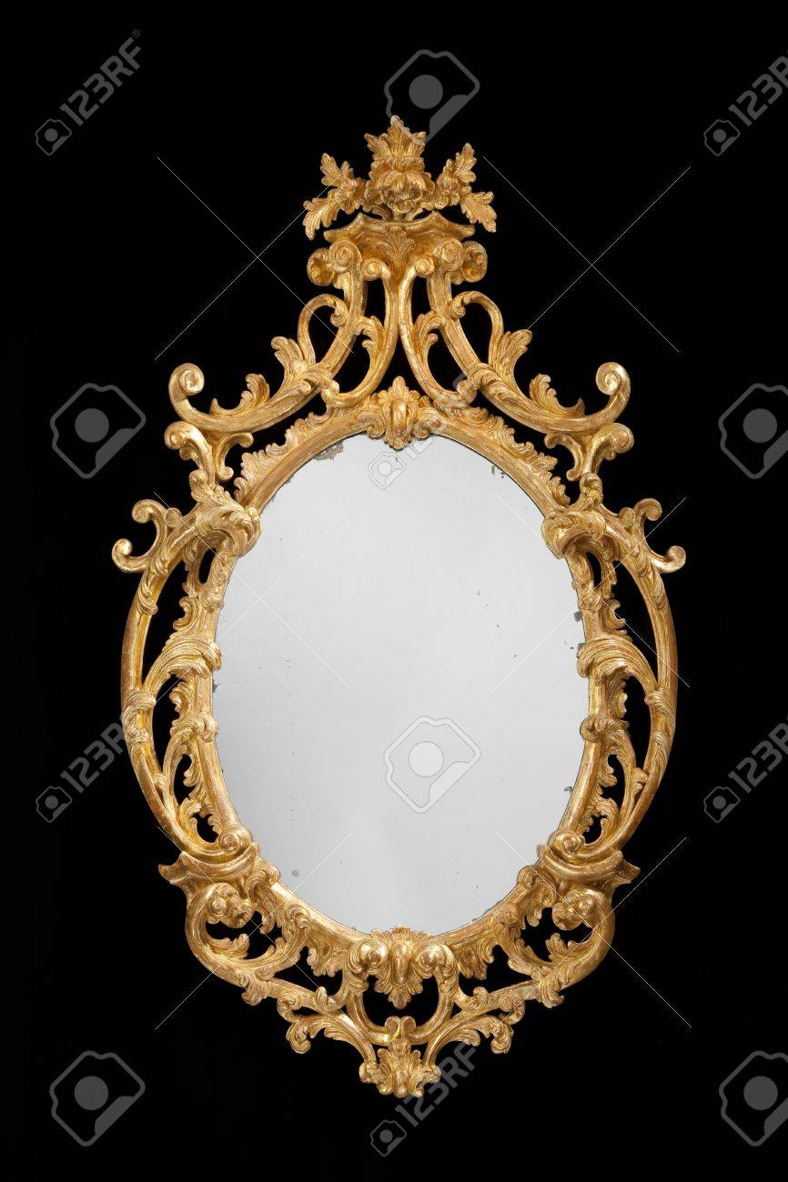 Mirror Wall Hanging Formal Vintage Antique With Original Glass Stock Photo Picture And Royalty Free Image Image 47681099