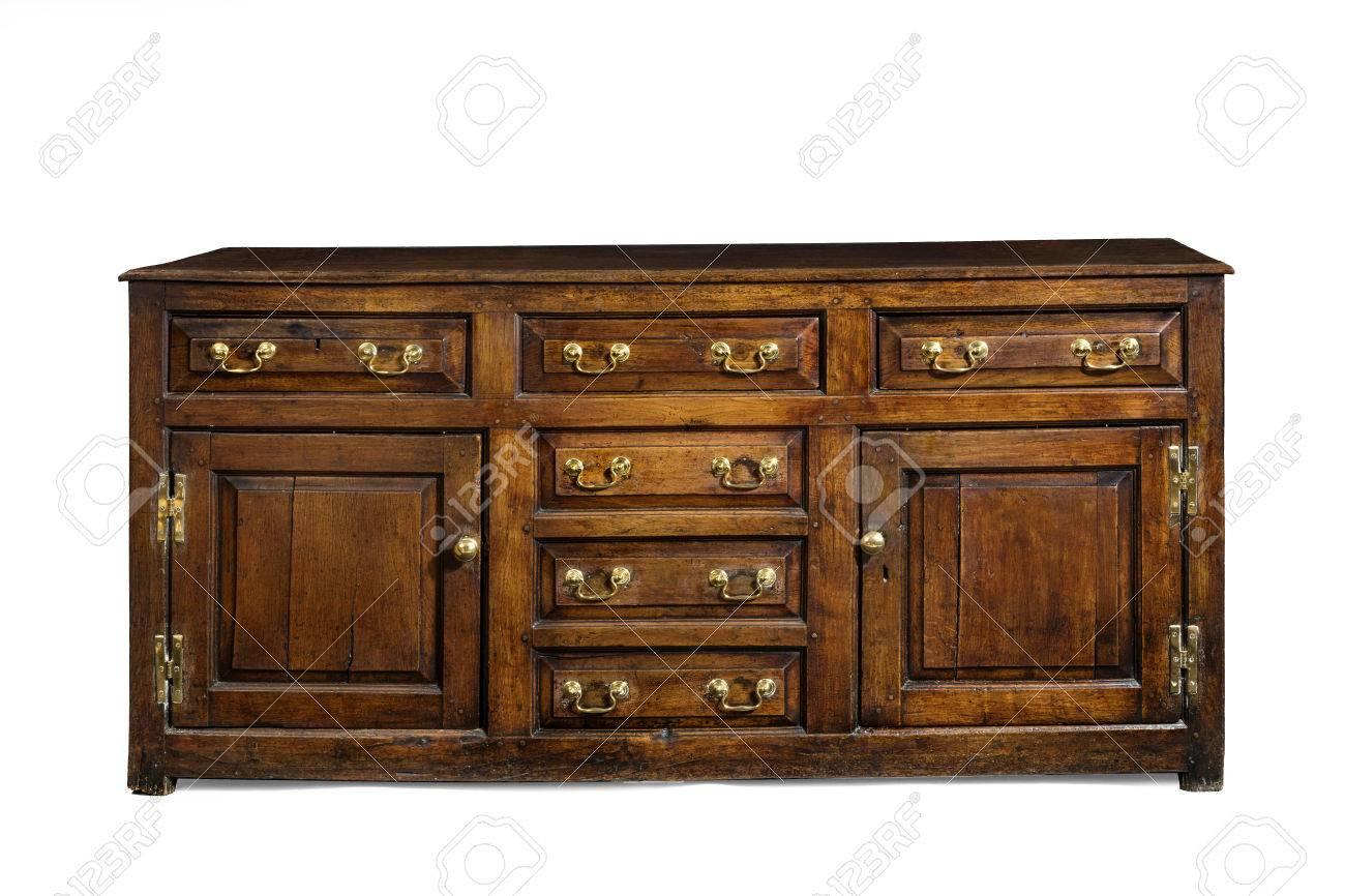 Oude engels antieke eiken dressoir dressoir basis met koperen