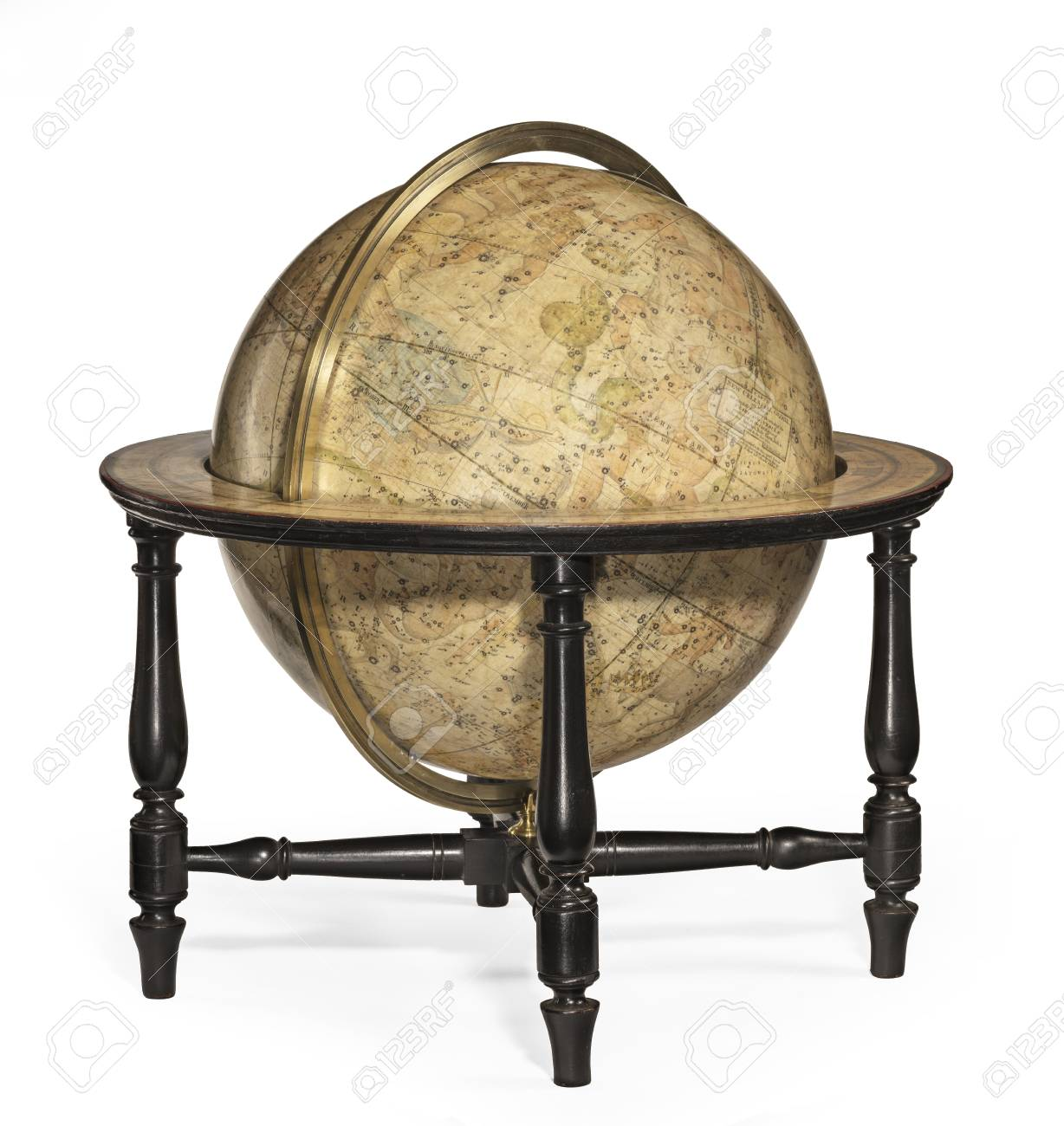 Old Antique Globe Small For The Desk Or Table Stock Photo Picture