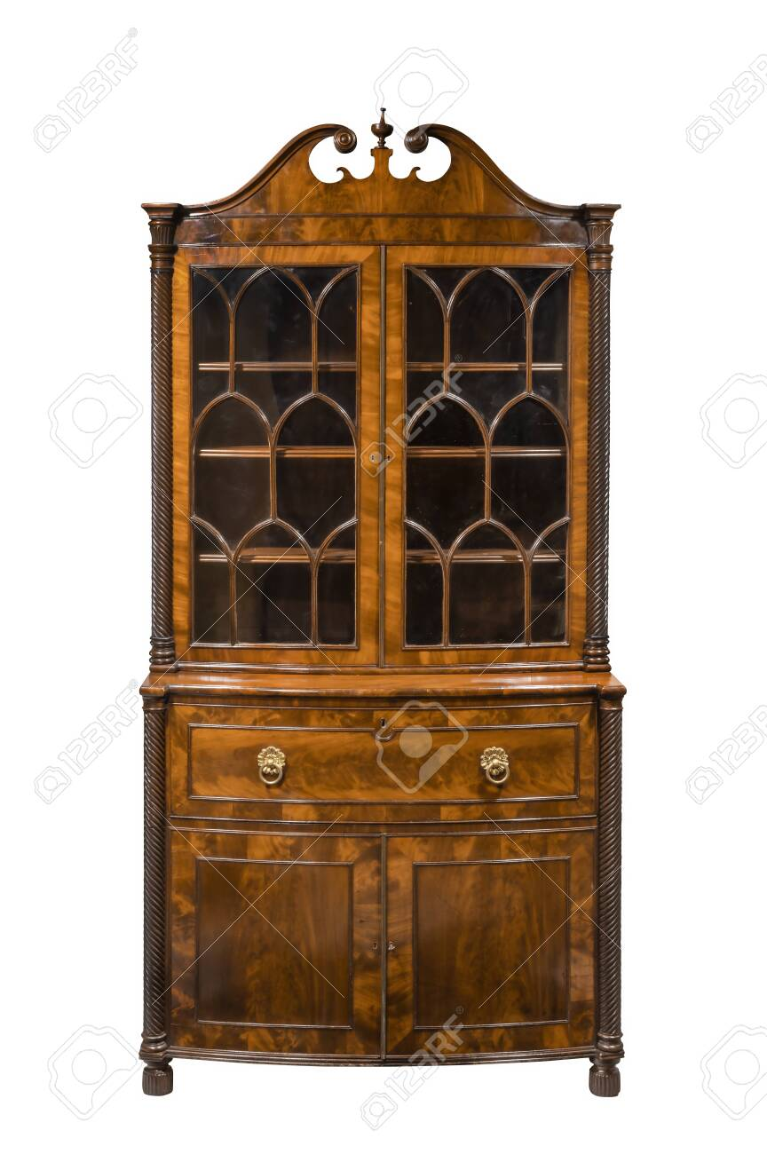 Vintager bookcase cabinet isolated on white - 137272426