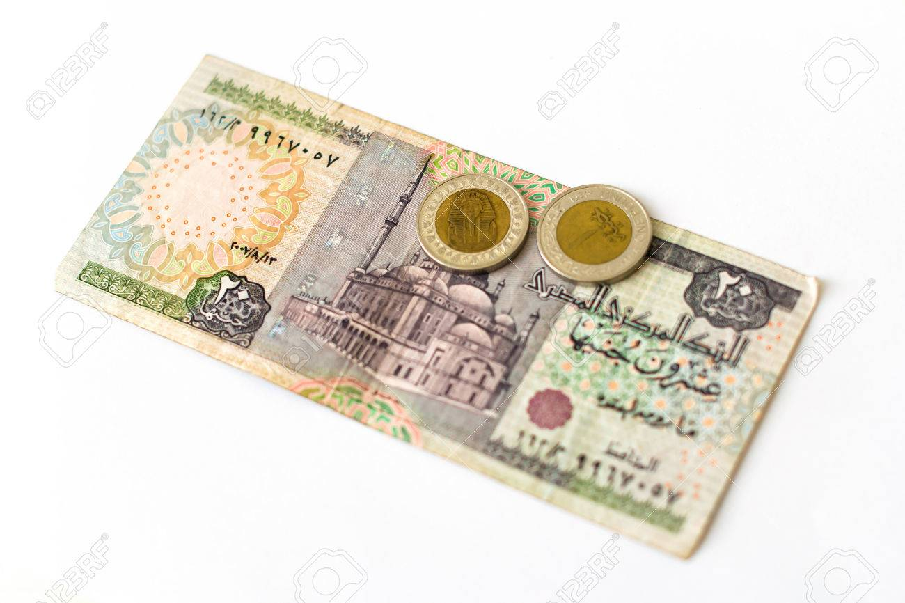 20 egyptian pounds old banknote denominations of twenty egp stock 20 egyptian pounds old banknote denominations of twenty egp with mosque coin 1 pound biocorpaavc Images