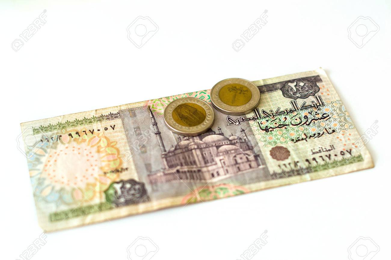 20 egyptian pounds old banknote denominations of twenty egp 20 egyptian pounds old banknote denominations of twenty egp with mosque coin 1 pound biocorpaavc Images